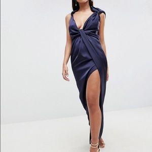 ASOS Satin Drape Dress - Never Worn